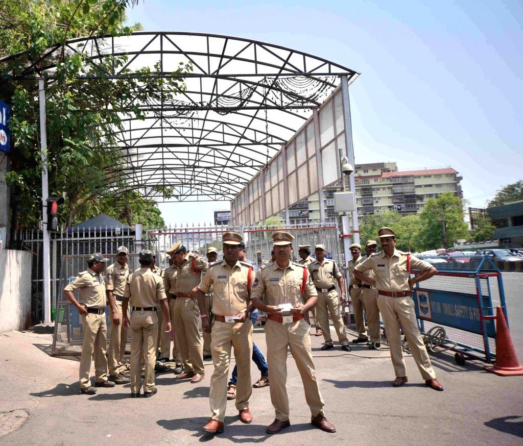 Police deployed outside Telangana Chief Minister K. Chandrashekar Rao's residence where students staged a demonstration against the Telangana State Board of Intermediate Education (TSBIE) ... - K. Chandrashekar Rao