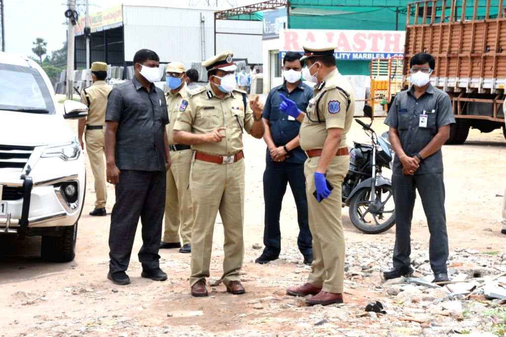 Police in Telangana continue to strictly enforce lockdown.