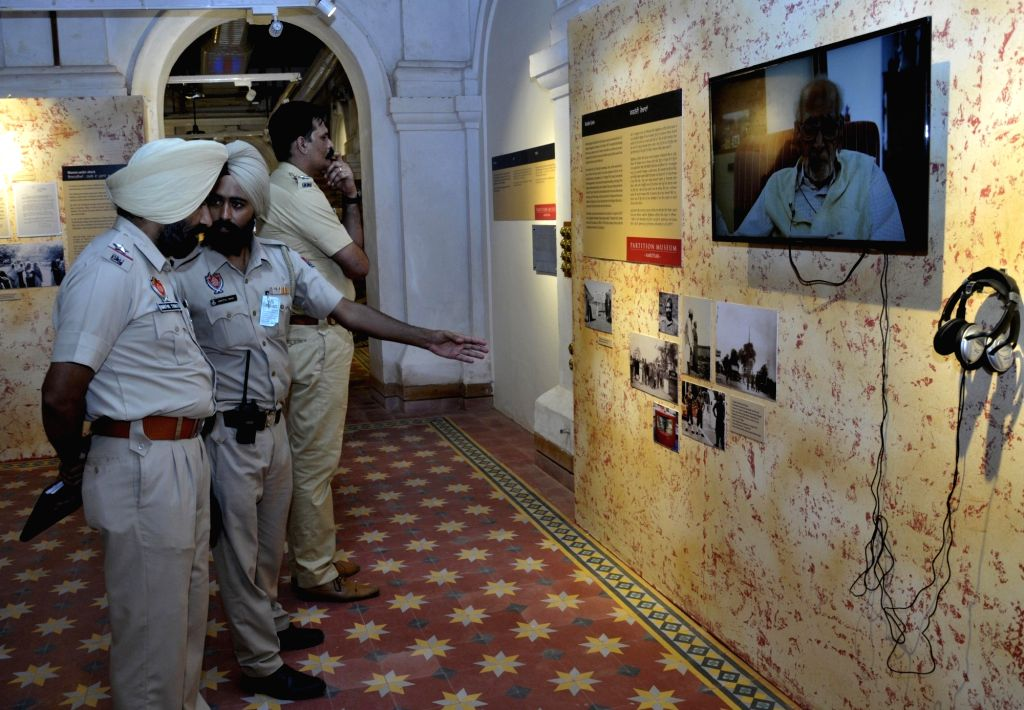 Police officials visit the newly inaugurated Partition Museum in Amritsar on Aug 17, 2017.
