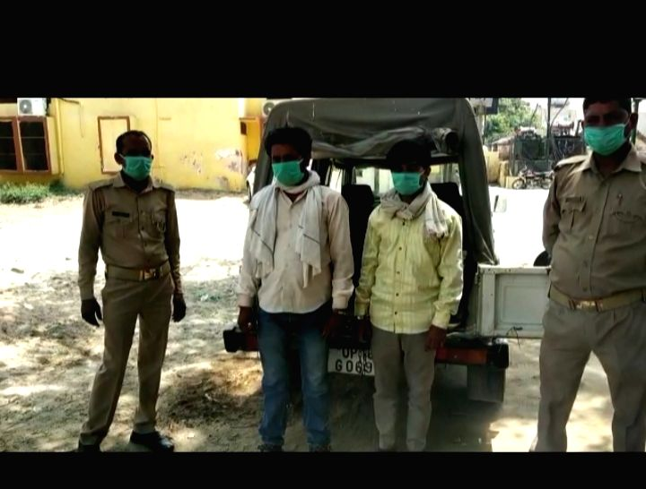 Police raids illegal liquor factory operated in the forests at Greater Noida's Rabupura.