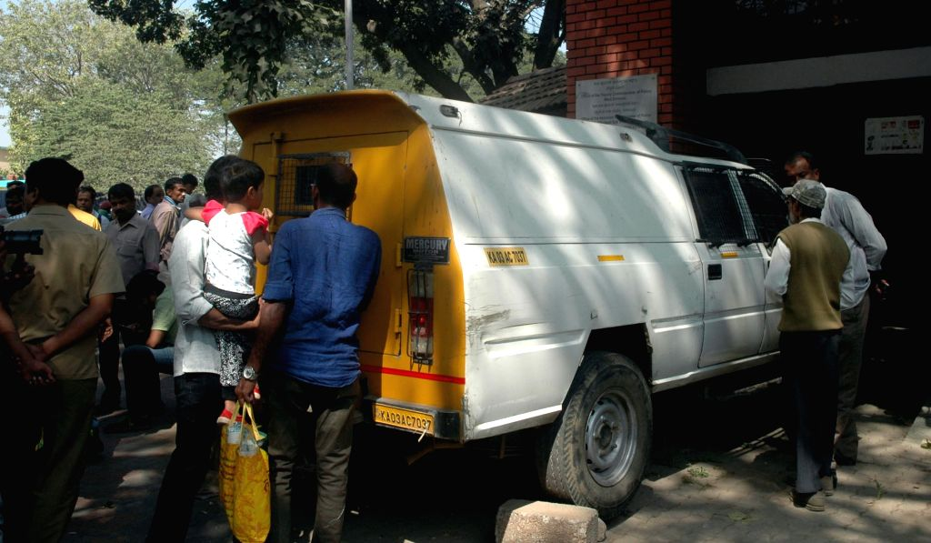 Police recovers the cash van carrying Rs 1.37 crore that was stolen by the driver of the van, in Bengaluru on Nov 24, 2016. The vehicle was found parked at Upparpet Police Station.