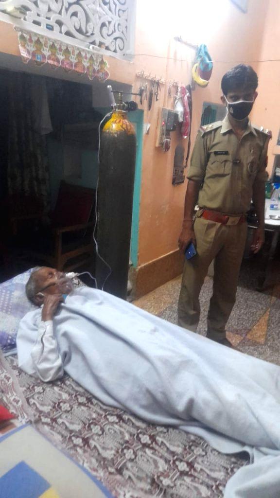 Policeman turned warrior.