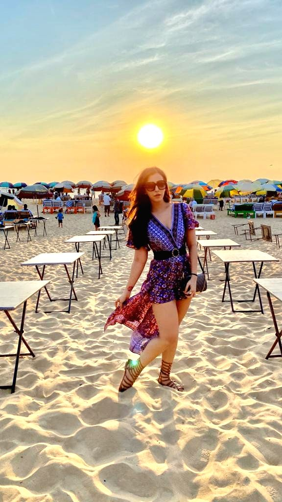 Polish actress Angela Krislinzki is back from her vacation in Goa after enjoying the sunshine, beaches and great food there. - Angela Krislinzki