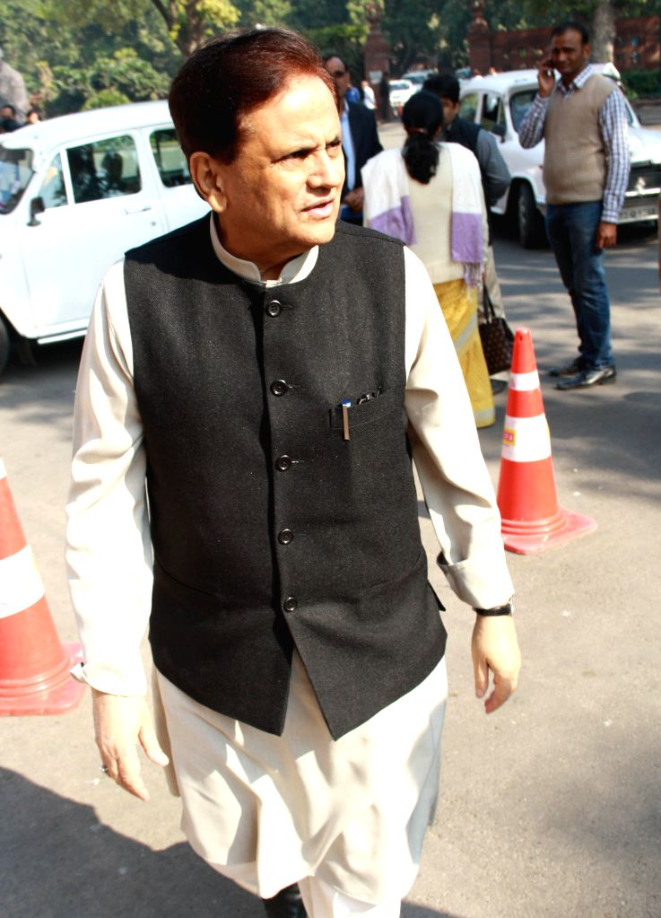 Political advisor to Sonia Gandhi,Ahmed Patel,at Parliament House.(Photo:IANS/Amlan) - Sonia Gandhi and Ahmed Patel