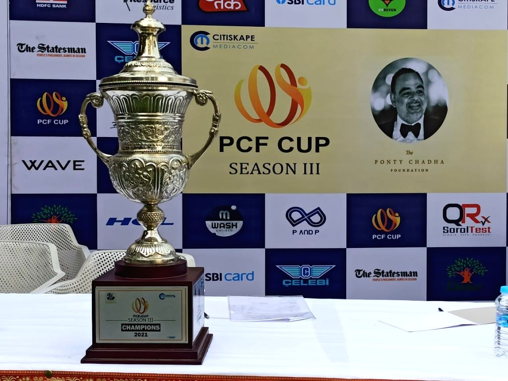 Ponty Chadha Foundation unveils trophy for 'PCF Cup' Cricket Season III.