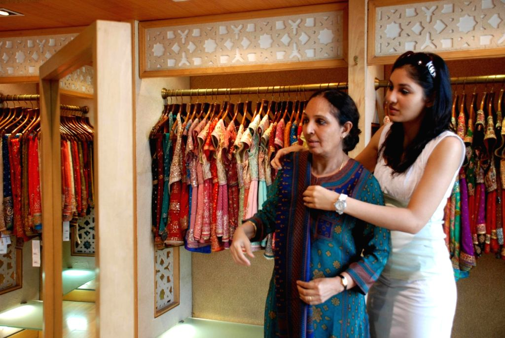 Pooja Chopra shops for her mom at Ritu Kumar store, in Mumbai.