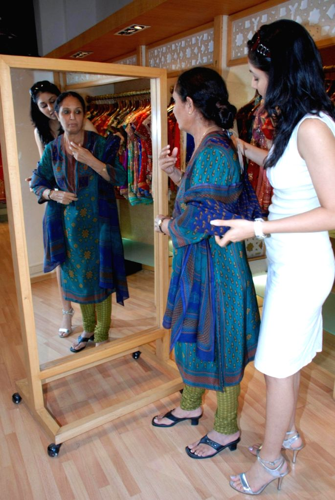 Pooja Chopra shops for her mom at Ritu Kumar store, in Mumbai.