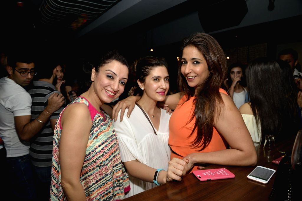 Pooja Makhija and Krishika Lulla at Radio Bar in Mumbai on April 17, 2016.
