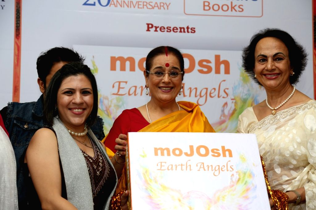 Poonam Sinha during the book launch of MoJOsh Earth Angels, in Mumbai on Sept 21, 2016. - Poonam Sinha