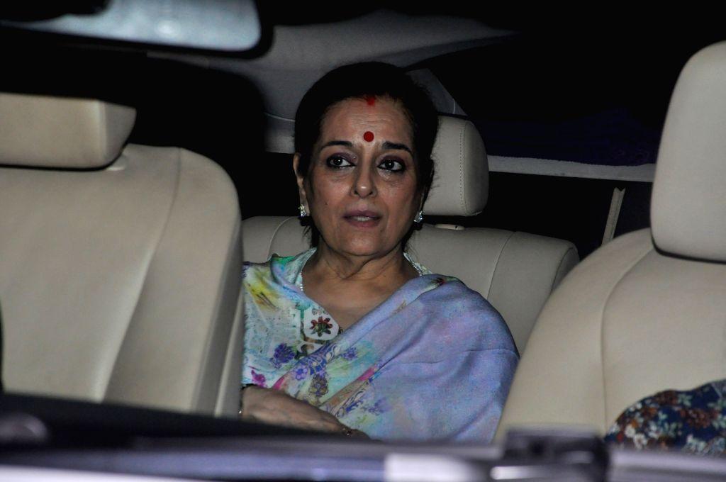 Poonam Sinha during the screening of film Super Singh, in Mumbai on June 16, 2017. - Poonam Sinha and Singh