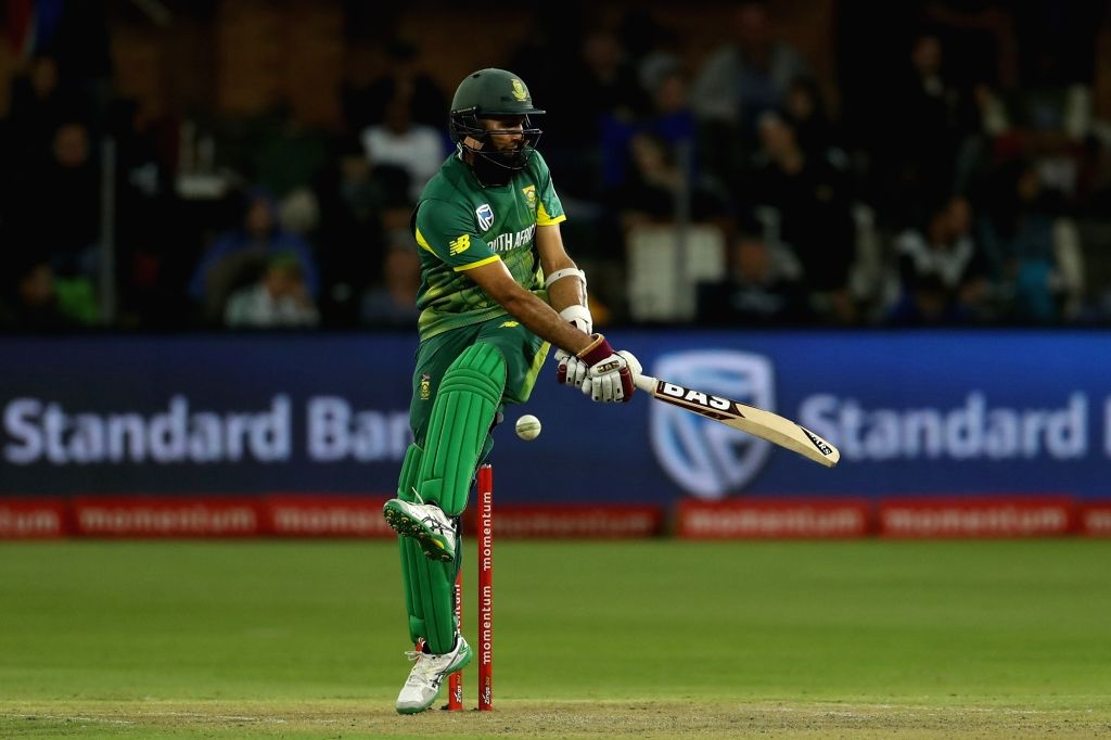 Port Elizabeth: Hashim Amla of South Africa in action during the 5th ODI between India and South Africa at the St George's Park Cricket Ground in Port Elizabeth, South Africa on Feb 13, 2018.