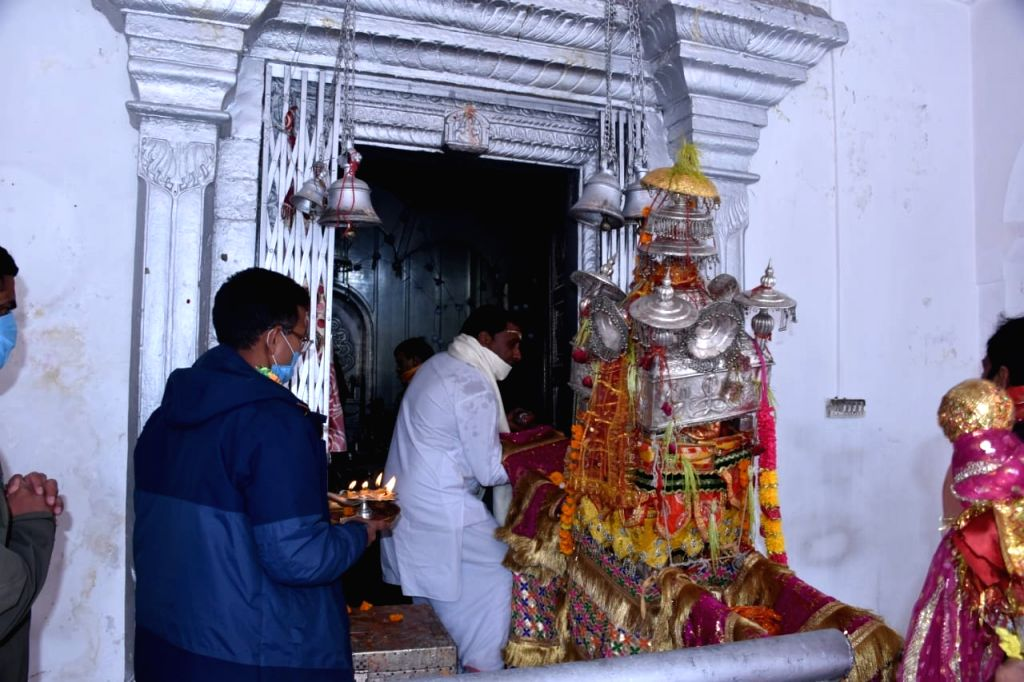 Portals of Gangotri and Yamunotri temples in Uttarakhand thrown open.