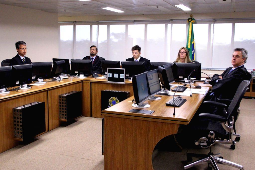PORTO ALEGRE (BRAZIL), Jan. 24, 2018 Photo taken on Jan. 24, 2018 shows an appeals court of the Federal Regional Court of the 4th Region (TRF4) in Porto Alegre, Brazil. A Brazilian ...