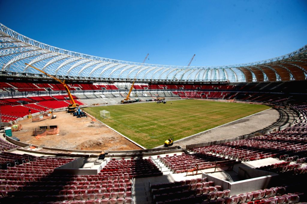 Photo taken on Dec. 15, 2013 shows a view of Arena Beira-Rio in Porto Alegre, Brazil. Arena Beira-Rio, with a capacity of 50,000 seats, will host 4 group .
