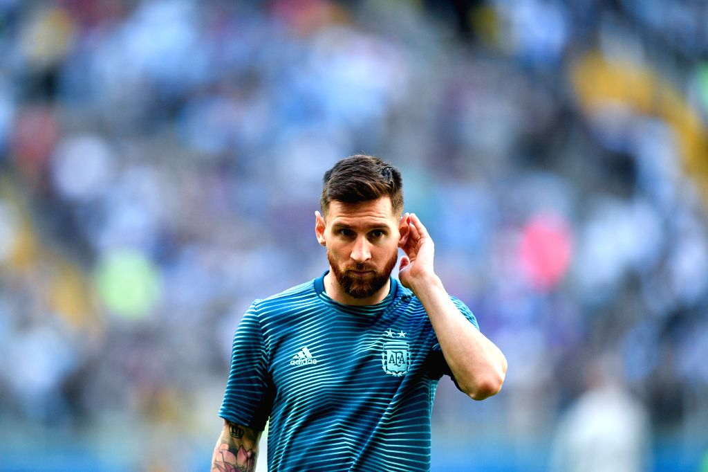 PORTO ALEGRE, June 24, 2019 (Xinhua) -- Argentina's Lionel Messi looks on before the Group B match between Argentina and Qatar at the Copa America 2019, in Porto Alegre, Brazil, June 23, 2019. Argentina won 2-0. (Xinhua/IANS)