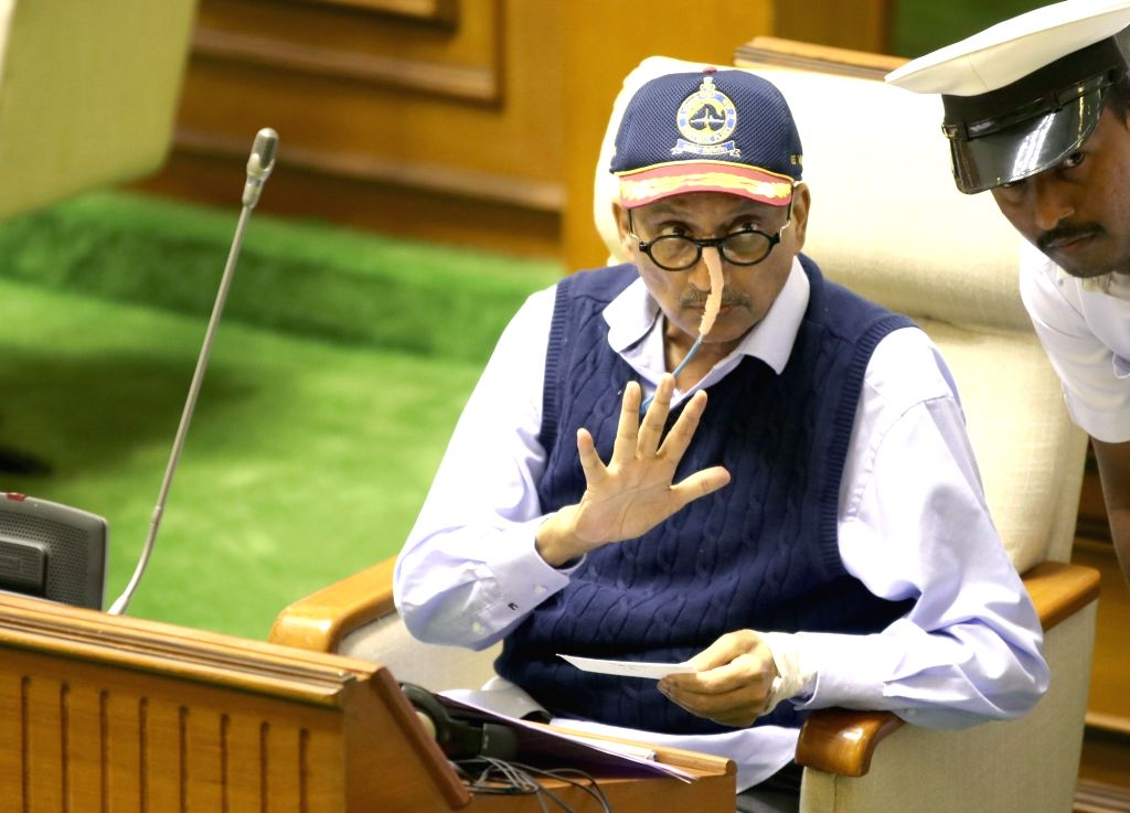 Porvorim: Goa Chief Minister Manohar Parrikar at the state assembly in Porvorim, Goa on Jan 31, 2019. (Photo: IANS) - Manohar Parrikar