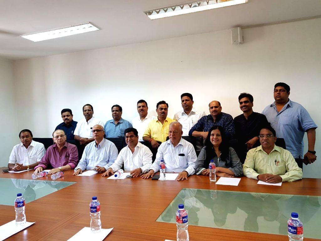 :Porvorim (Goa): Goa Congress legislators including Chandrakant Kavlekar during Congress Legislature Party meeting at Goa Assembly at Porvorim, Goa on Sept 17, 2018. (Photo: IANS).