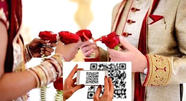 Post Covid weddings: Madurai family sets example with QR code on invite.