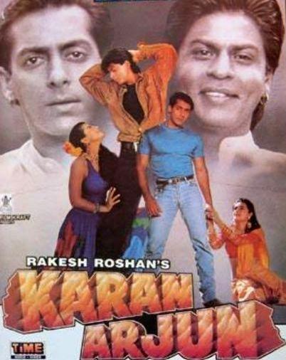 "Poster of Salman Khan and Shah Rukh Khan starrer ""Karan Arjun"". - Salman Khan and Rukh Khan"