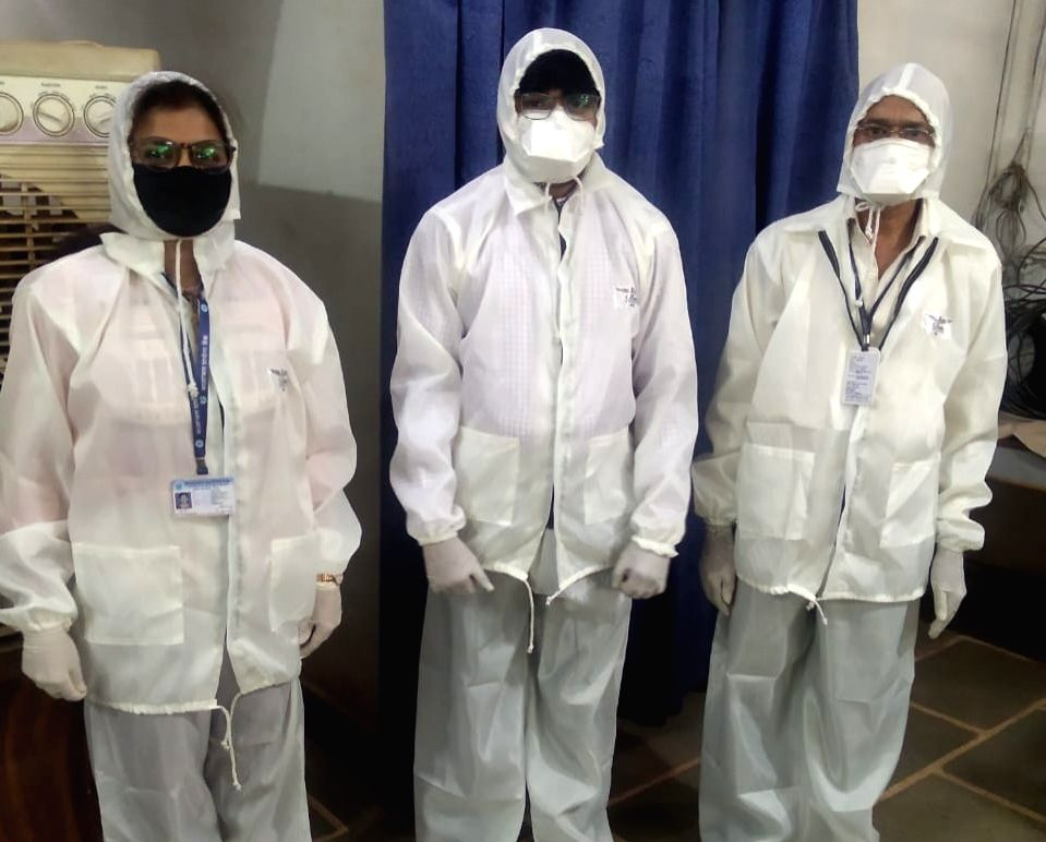PPE kit for bank employees.