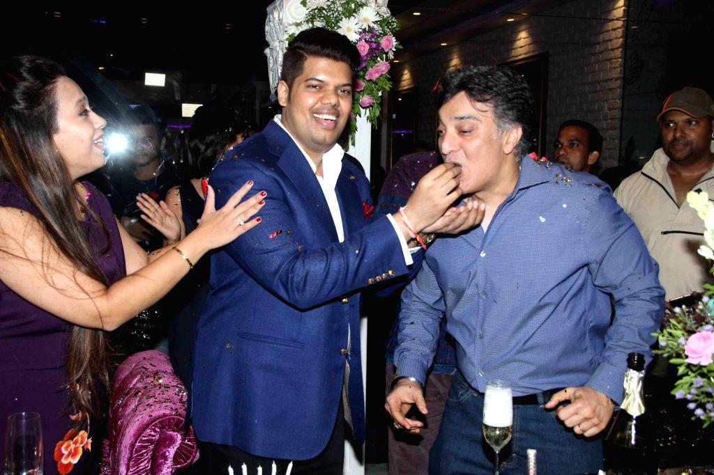 Praboddh Davkharey, MD, Nittro Gym during his birthday party celebrations, in Mumbai, on May 29, 2017.