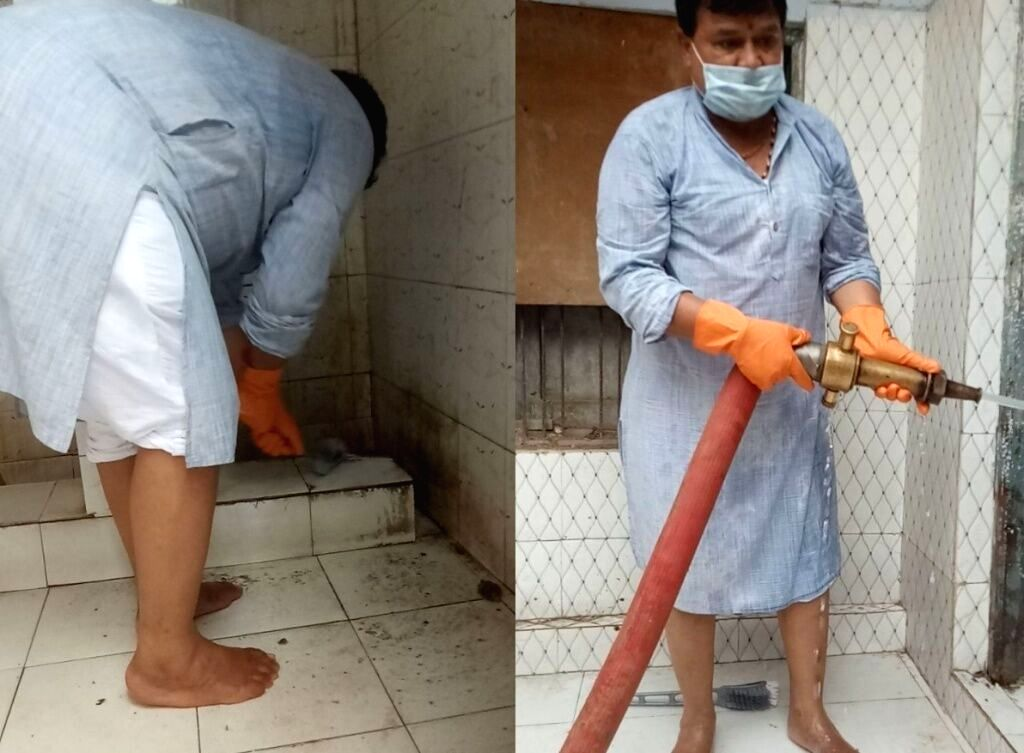 Pradhuman Singh Tomar cleaned the toilet. - Pradhuman Singh Tomar