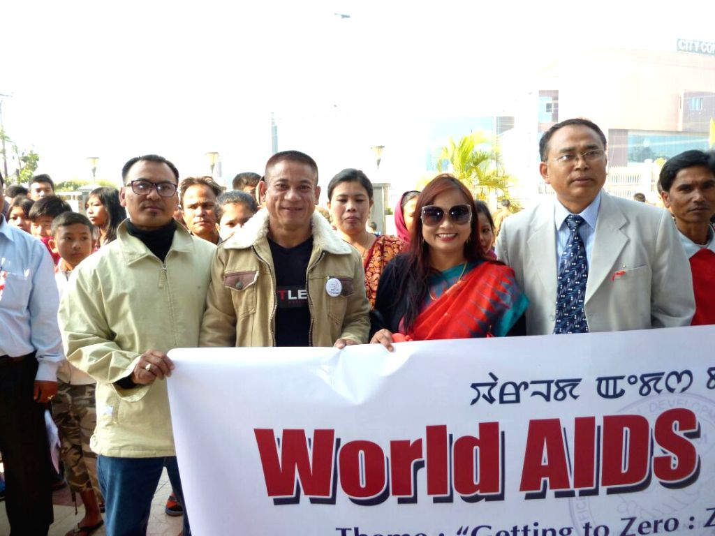Pradipkumar Singh taking part in an awareness-building drive in Imphal, Manipur with other activists to mark World AIDS day. - Pradipkumar Singh