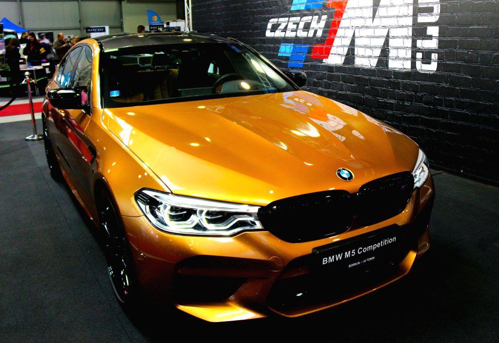 PRAGUE, April 14, 2019 (Xinhua) -- A BMW M5 sports car is on display during Autoshow Prague, in Prague, the Czech Republic, April 13, 2019. The three-day automotive expo closed here on Sunday. (Xinhua/Dana Kesnerova/IANS)