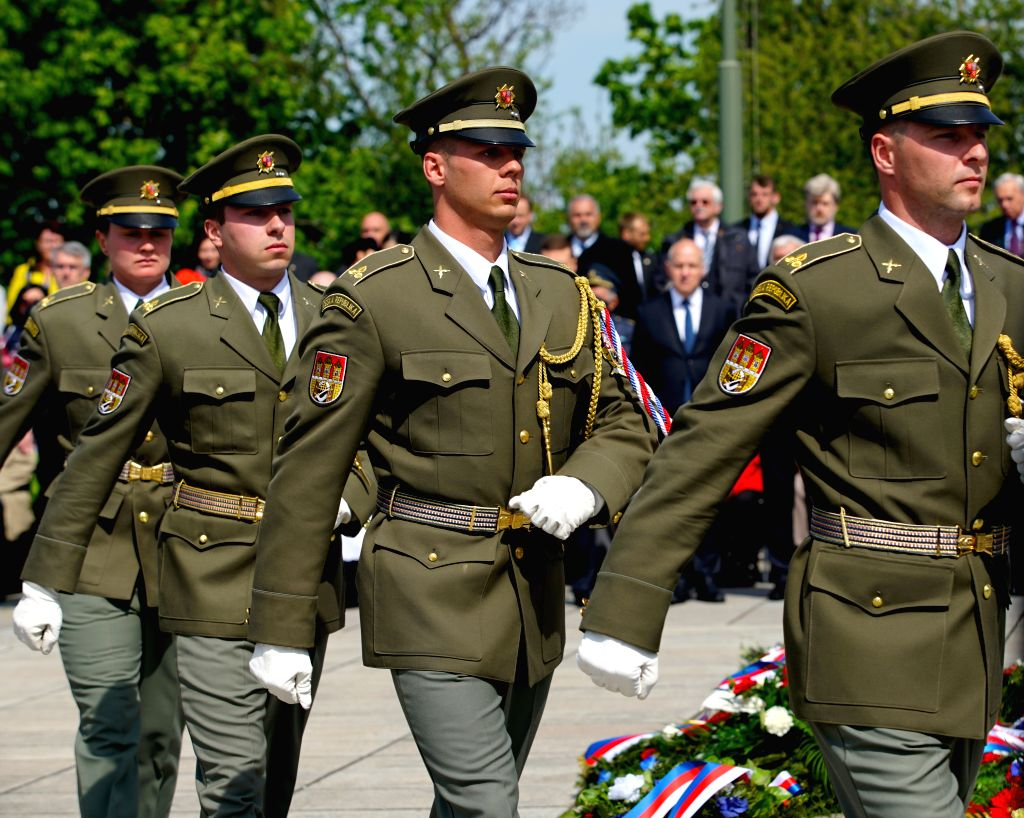 PRAGUE, May 8, 2019 - A ceremony is held to commemorate the 74th anniversary of the end of World War II in Europe in Prague, the Czech Republic, on May 8, 2019. Czech President Milos Zeman and other ... - Andrej Babis