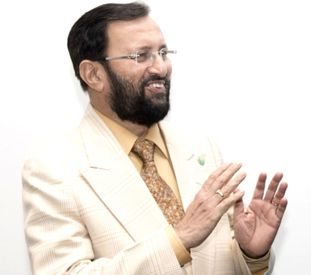 Prakash Javadekar, India's Minister of Environment, Forest and Climate Change, who is the president of the Conference of Parties (COP) to the United Nations Convention to Combat Desertification ...