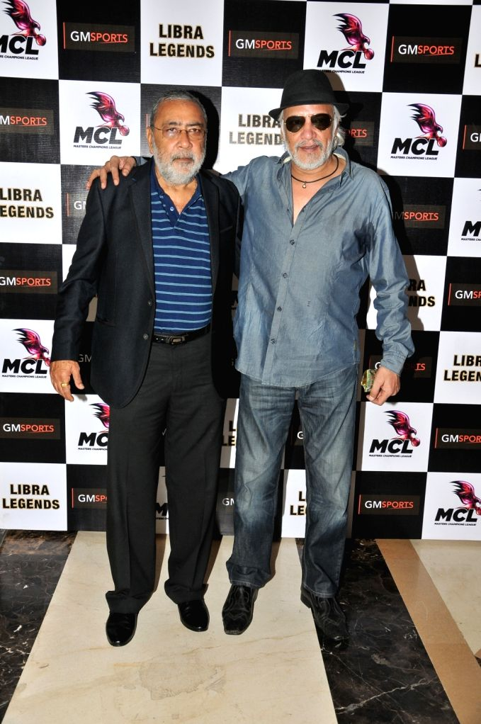 Prashant Virendra Sharma with Anjali Pandey at the launch of Libra Legends Masters Champions League (MCL) team in Mumbai on Nov  30, 2015 - Prashant Virendra Sharma and Anjali Pandey