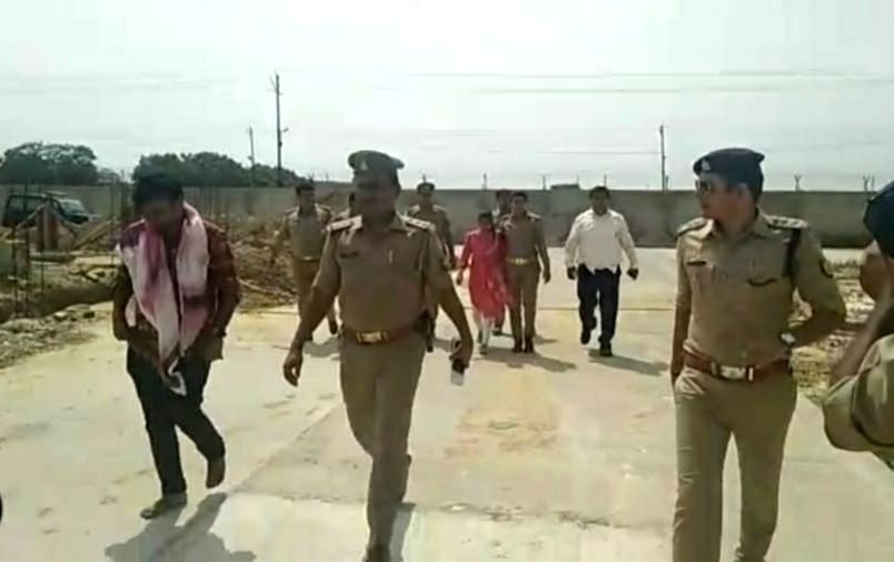 Prayagraj: Sakshi, the daughter of BJP MLA Rajesh Mishra and and Ajitesh Kumar in Prayagraj on July 15, 2019. The Allahabad High Court held their marriage was 'valid' directed the state government to provide adequate police protection to the couple.  - Rajesh Mishra and Ajitesh Kumar