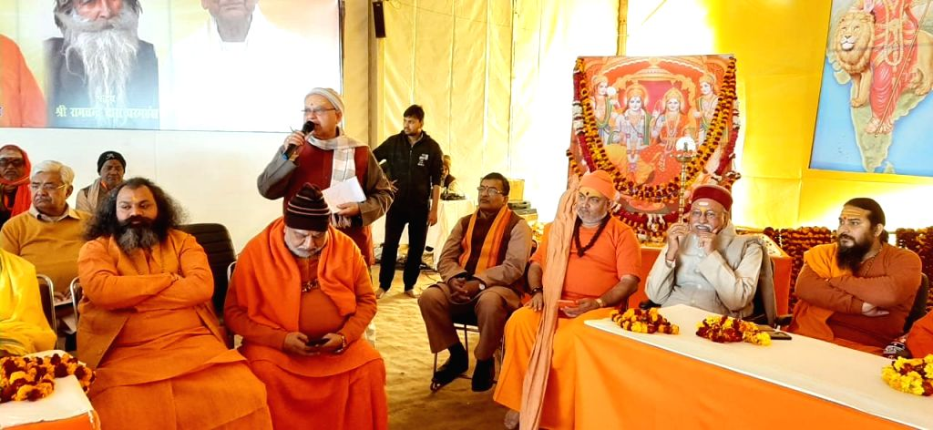 Prayagraj: The Vishwa Hindu Parishad's central Margdarshak Mandal meeting underway at Uttar Pradesh's Prayagraj on Jan 20, 2020. The meeting was dominated by planning for construction of Ram Temolem discussions for CAA, and on religious conversion. T