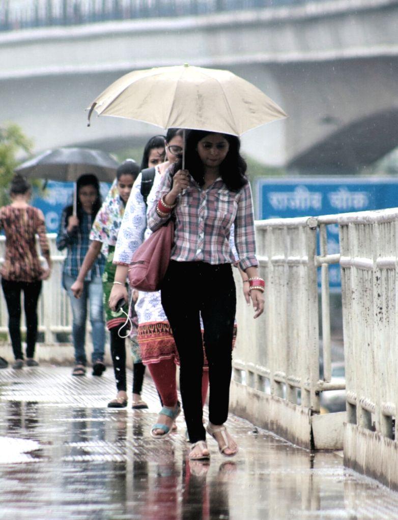 Pre-monsoon showers lash Delhi on June 19, 2017.
