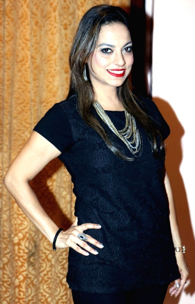 """Preeti Bhalla during the music success party of comedy film """"Mr. Kabaadi"""" in Mumbai on Sept 4, 2017."""