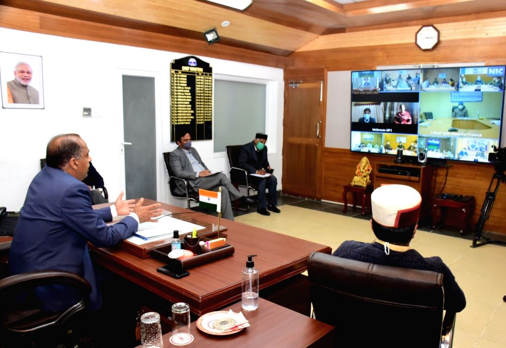 Prefabricated Covid Care Centres with adequate bed facilities being set up in the State,said CM Jai Ram Thakur while presiding over the video conference with the Deputy Commissioners, ...