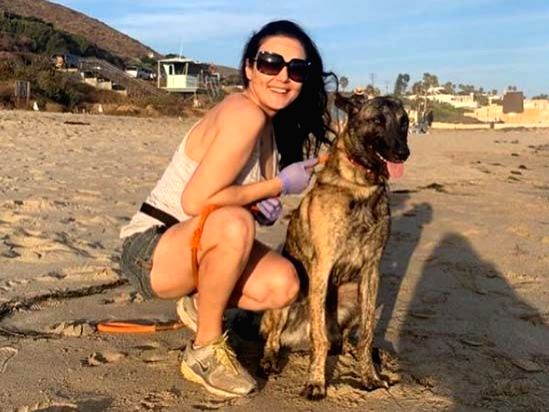 Preity Zinta hits the beach after 104 days with pet pup. - Preity Zinta