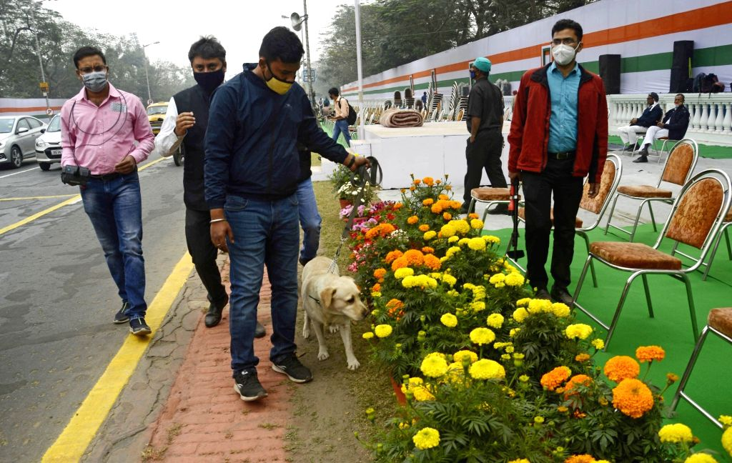 Preparation of Republic Day at Red Road on 25 Jan 2021