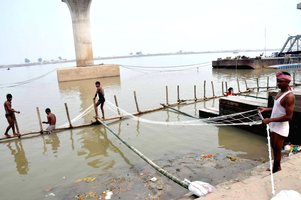 Preparations for Chhath Puja celebrations underway on the eve of the festival, in Patna on Oct 30, 2019.