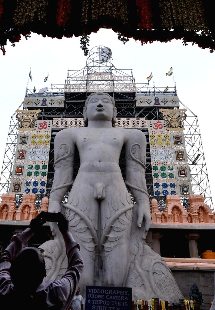 Preparations underway ahead of the Mahamastakabhisheka of monolithic statue of Lord Gommateshwara Bahubali - a mega event conducted once in 12 years at Shravanabelagola in ...