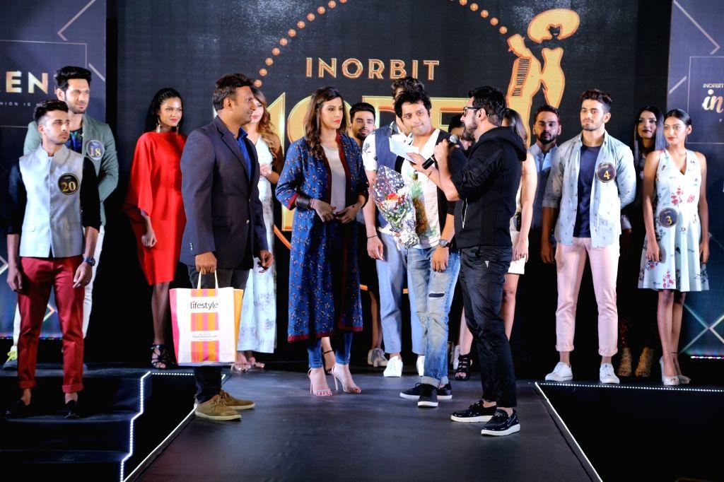 Presenter, model and actor Karishma Kotak during the 'InTrend Fashion Show' in Mumbai on Sept 30, 2017. - Karishma Kotak