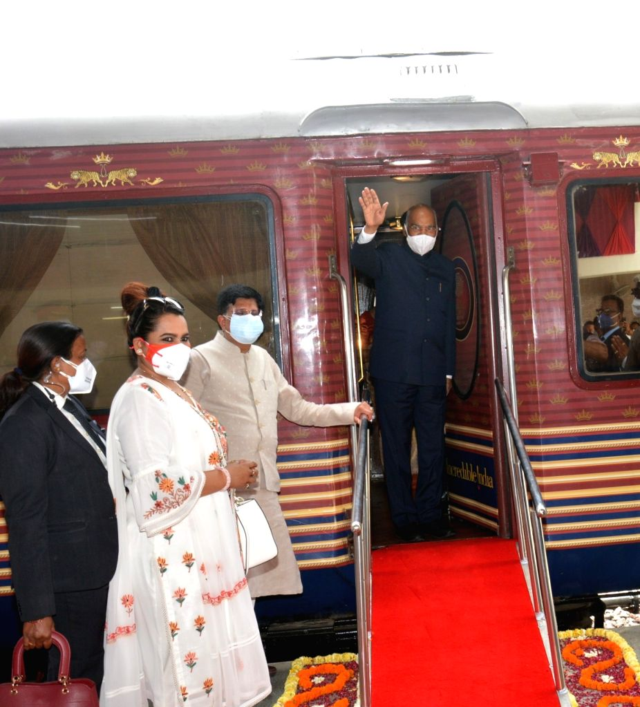 President Kovind takes train to his native place in UP