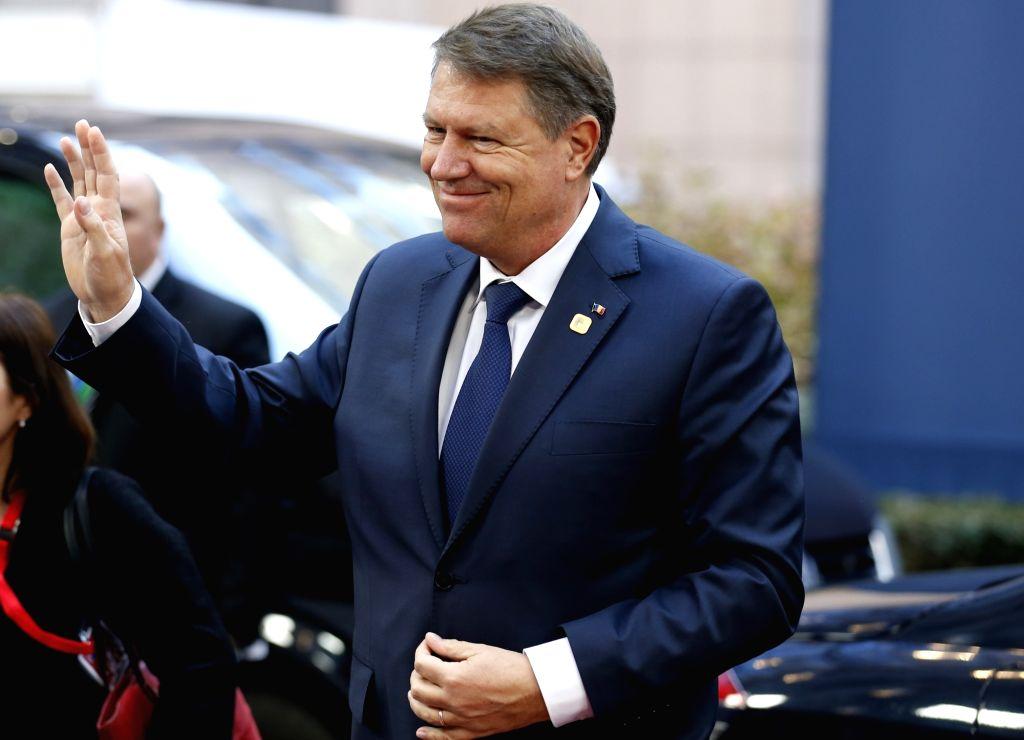 President of Romania Klaus Iohannis. (File Photo: IANS)
