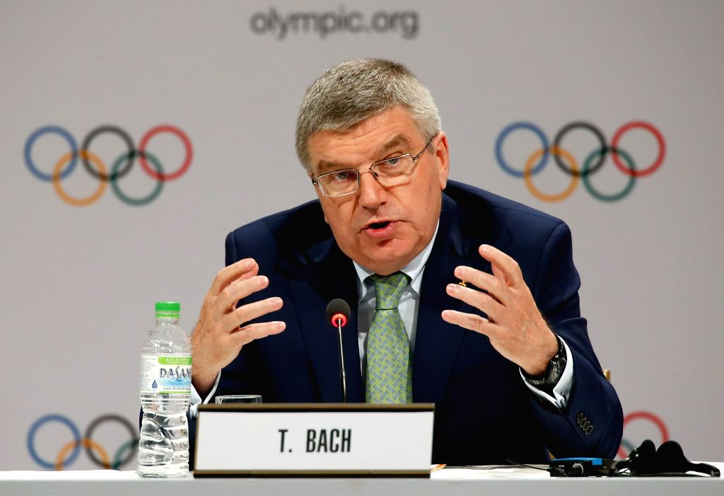 President of the International Olympic Committee (IOC) Thomas Bach addresses a press conference in Kuala Lumpur, Malaysia, July 29, 2015. The 128th IOC ...