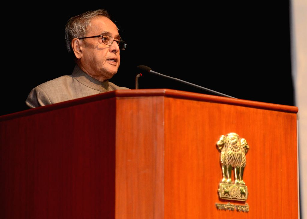 President Pranab Mukherjee addresses during launch of RuPay card - an indigenous payment card developed by National Payments Corporation of India (NPCI), a not-for-profit company envisioned by the ... - Pranab Mukherjee