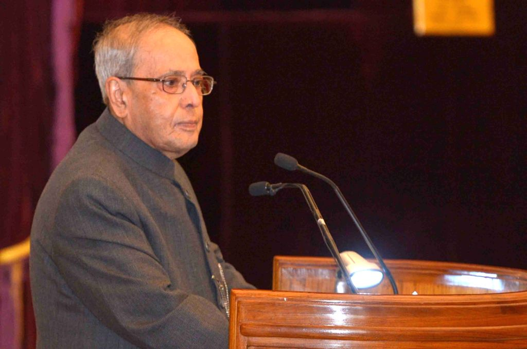 President Pranab Mukherjee addresses during a programme organised to receive the First Copy of the Times Higher Education 'BRICS' & Emerging Economies Universities Rankings, at ... - Pranab Mukherjee