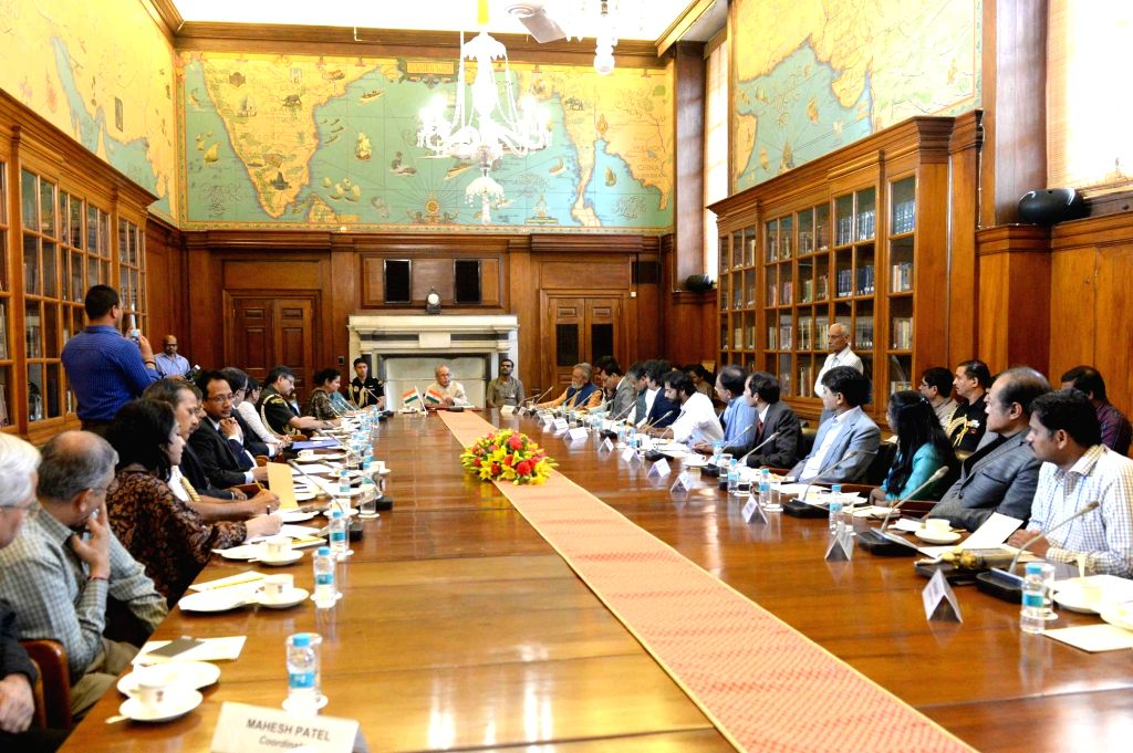 President Pranab Mukherjee addresses during the meeting with Innovation Scholars and Writers/Artists attending In-Residence programme at Rahstrapati Bhavan in New Delhi on March 15, 2017. - Pranab Mukherjee