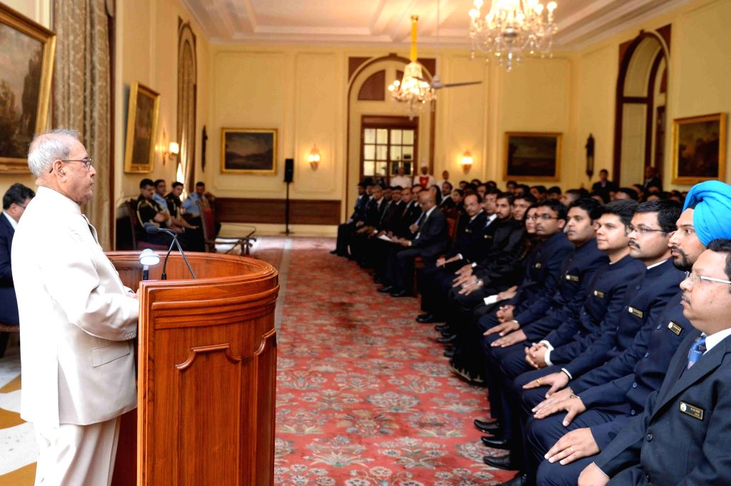 President Pranab Mukherjee addresses Probationers of Indian Ordnance Factories Service (IOFS-2016 I & II Batches) from National Academy of Defence Production, Nagpur and Office ... - Pranab Mukherjee