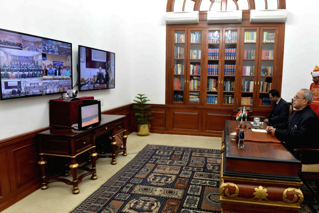 President Pranab Mukherjee addresses the institutes of higher learning and Probationary Officers at Civil Services Academies through Video Conferencing using National Knowledge Network ... - Pranab Mukherjee