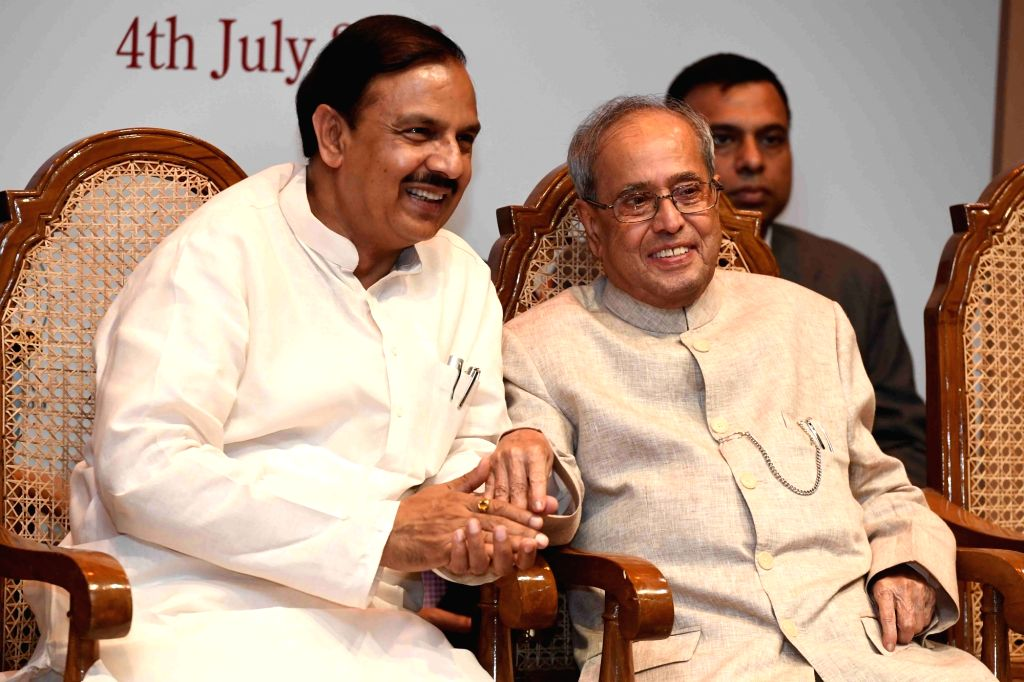 President Pranab Mukherjee and the Union Minister of State for Culture (Independent Charge), Tourism (Independent Charge) and Civil Aviation, Dr. Mahesh Sharma during the inauguration of ... - Pranab Mukherjee and Mahesh Sharma